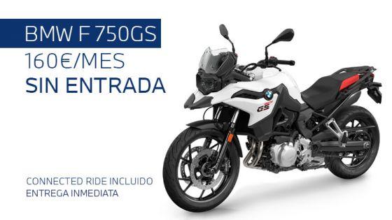BMW F 750GS por 160€/mes*. Sin entrada